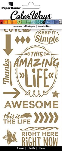 Paper House Productions RUB-0301E Amazing/Today Happens Rub on Transfers (6-Pack)