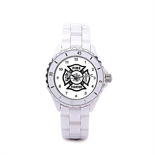 Algunos diferentes blanco Silvery Buenos relojes de cerámica de las mujeres: Amazon.es: Relojes