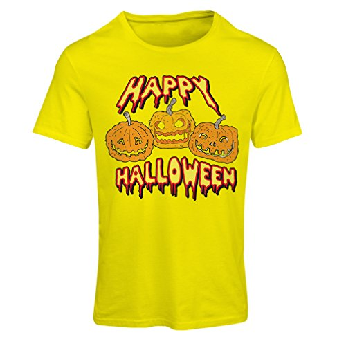 T Shirts for Women Happy Halloween! Party Outfits & Costume - Gift Idea (X-Large Yellow Multi -