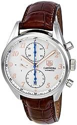 Tag Heuer Men's CAS2112.FC6291 Carrera Heritage Silver Dial Dress Watch