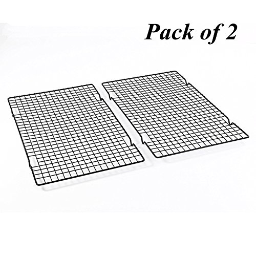 Delidge Pack of 2 Cooling and Baking Rack Nonstick Cooking Grill Stainless Steel Tray For Biscuit / Cake / Bread / Baking Cake by Delidge