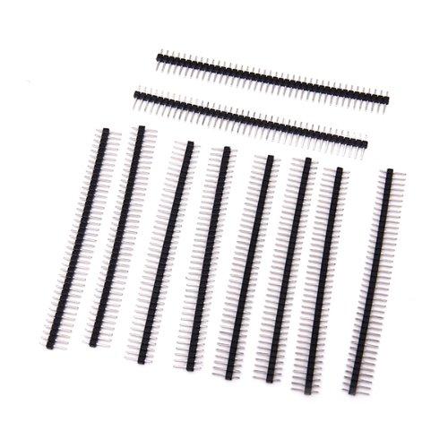 Header Fasteners (10pcs 40Pin Male Single Row Pin Header Strip 2.54mm Pitch)