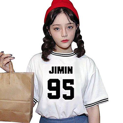 Love JIMIN Mood BTS BLANC Kpop Filles Courtes T Concert Story JHion Shirt Manches qwCIxP5