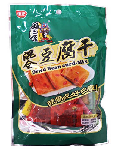 徽記好巴食豆腐乾- 混合 Dried Snack Tofu Spicy Bean Curd - Mixed Flavor 220g/7.76oz (Pack of 4)