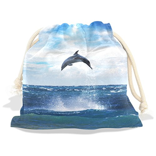 Costume Quest 2 Part 12 (Dolphin Pattern Velvet Drawstring Gift Bag Wrap Present Pouches Favor for Jewelry, Coin, Holiday, Birthday, Party, 6X8 Inches)