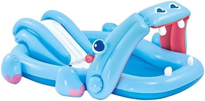 Trade Shop - Piscina Hinchable con tobogán para niños Playcenter ...