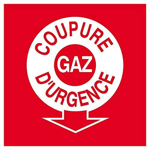 COUPURE GAZ DURGENCE 200x200mm