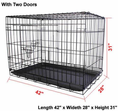 3 door 55 giant breed folding kennel black reviews for Door 55 reviews