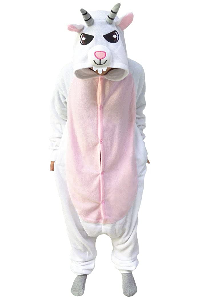 wotogold Animal White Goat Pajamas Unisex Adult and Kids Cosplay Costumes