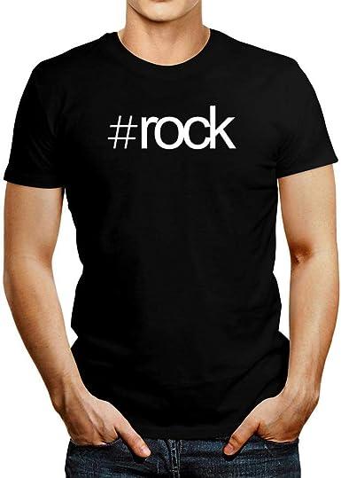 Idakoos Hashtag Rock Bold Text Camiseta M: Amazon.es: Ropa y accesorios