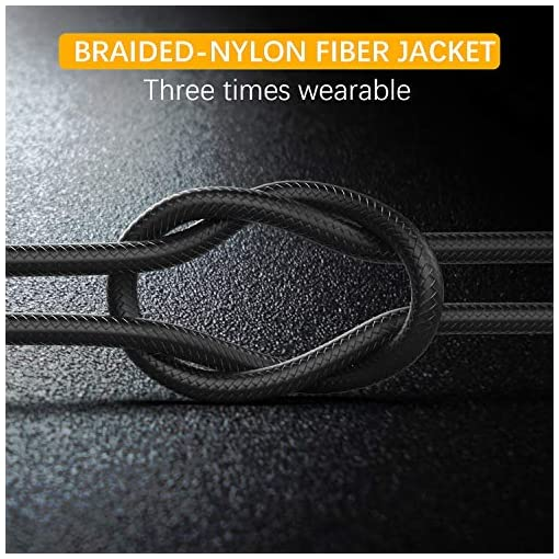 Micro USB Cable Yosou USB Charging Cable 2M 2Pack Nylon Braided Android Charger Cable Compatible with Samsung, Huawei, Sony, Android Smartphone, HTC, PS4 and More – Black