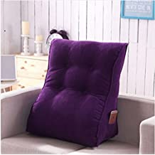 Vercart Sofa Bed Large Filled Triangular Wedge Cushion Bed Backrest Positioning Support Pillow Reading Pillow Office Lumbar Pad with Removable Cover Purple 22x24 Inches