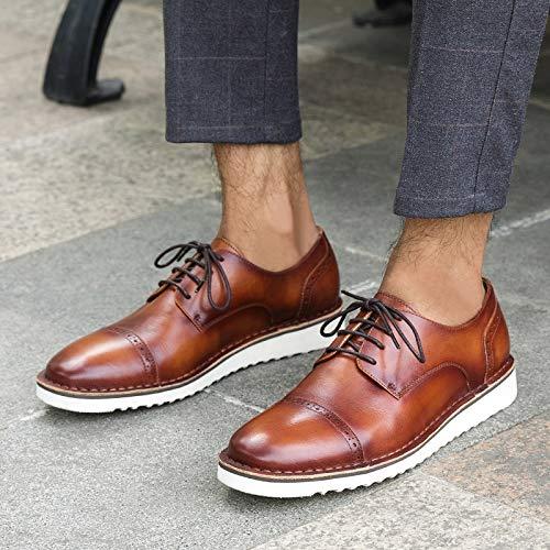 Cuir Bullock Hommes véritable pour Main en Chaussures MXNET Brass Lacets décontractées en Color Oxford Cuir la EU à à Black Size 39 EvZFq