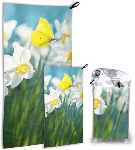 LONGYUU Beautiful White Daffodil Flower 2 Pack Toalla de Viaje de ...