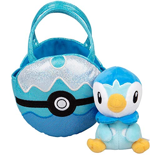 (Pokémon Piplup Pokéball Plush Carrier Purse - with Cute Mini Piplup Plush Doll)