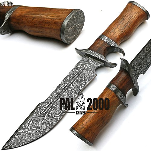 Sub Hilt Custom Handmade Damascus Steel Hunting Bowie Knife -Sword/Chef Kitchen Knife/Dagger/Full Tang/Skinner/Axe/Billet/Folding Knife/Kukri/knives accessories/survival/Camping With Sheath 9155