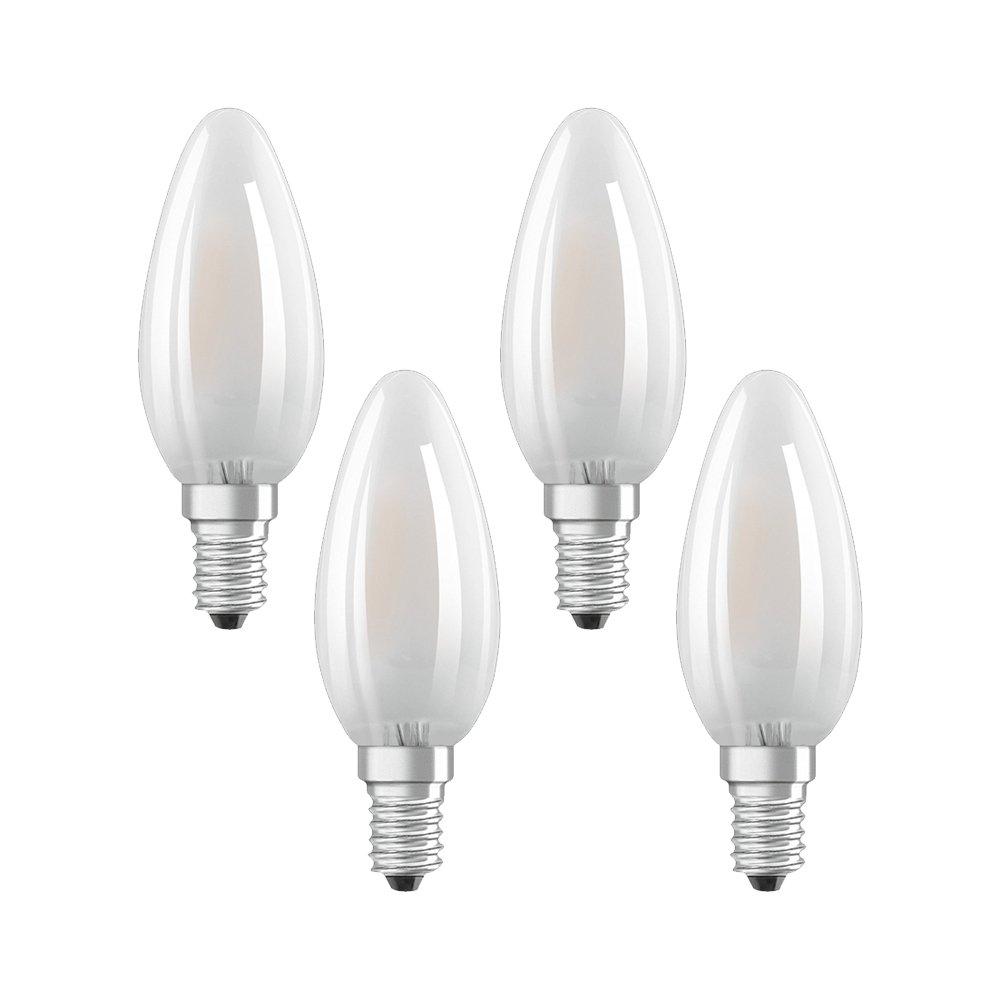 Osram 042964 Bombilla LED E14, 4 W, Blanco 4 Unidades: Amazon.es: Iluminación
