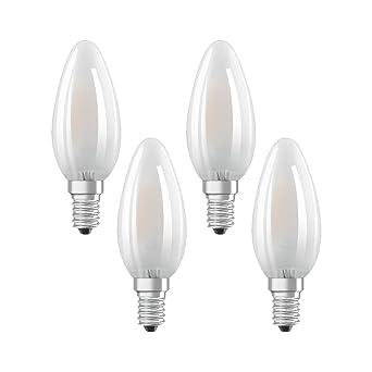 Osram 042964 Bombilla LED E14, 4 W, Blanco 4 Unidades
