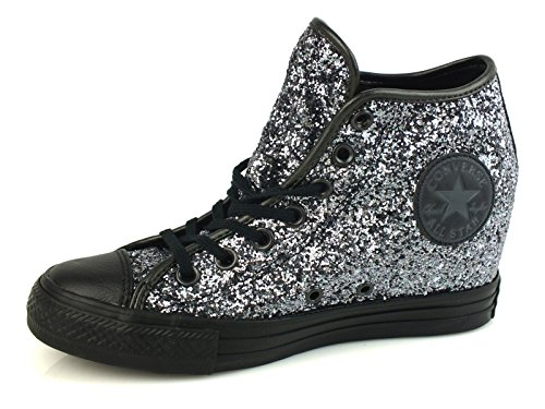 Sportive Zeppa Converse All Converse Scarpe Lux Donna Star Glitter Silver Glitterate Mid UXYSxdq