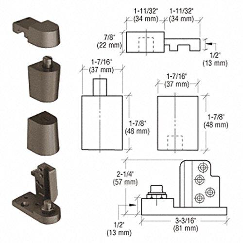 CRL Dark Bronze Offset Left Hand 0P70 Series Kawneer Type Pivot Set by CR Laurence ()