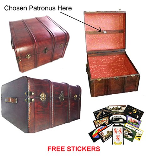 Hogwarts Wooden Steamer Trunk - Patronus Edition -