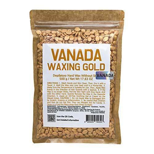 Gold Hard Wax (VANADA Waxing Gold Hard Wax, 17.63 Ounce Bag)