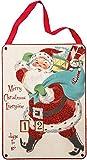 Primitives by Kathy Vintage Countdown to Christmas Santa Sign
