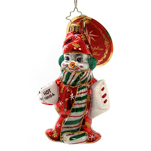 Christopher Radko Cuddle Up Cutie Snowman Christmas Ornament