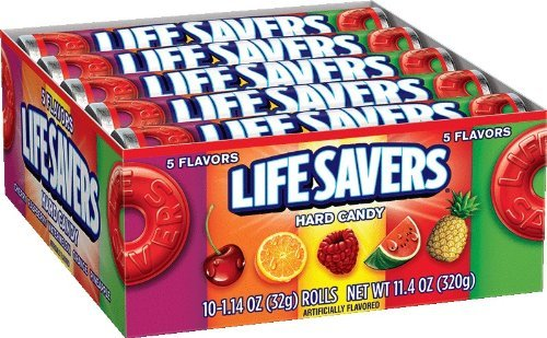LifeSavers 5 Flavor Hard Candy, 1.14-Ounce Rolls (Pack of 60) by Life - Rolls 1.14 Ounce