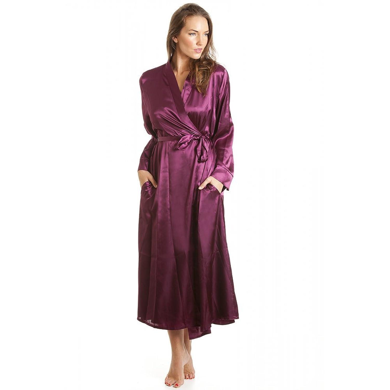 Robe de chambre en satin femme Violet tailles 38  52 38 40