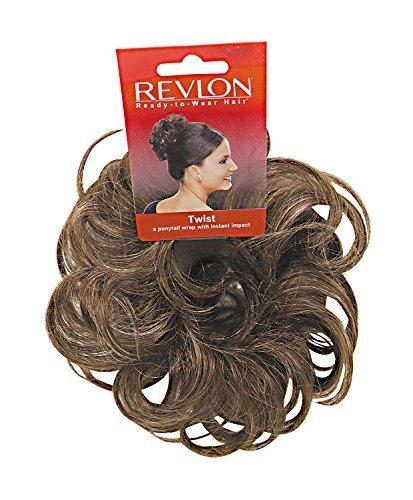 [Revlon Spare Hair Twist Hairpiece Light Brown] (Brown Twist)