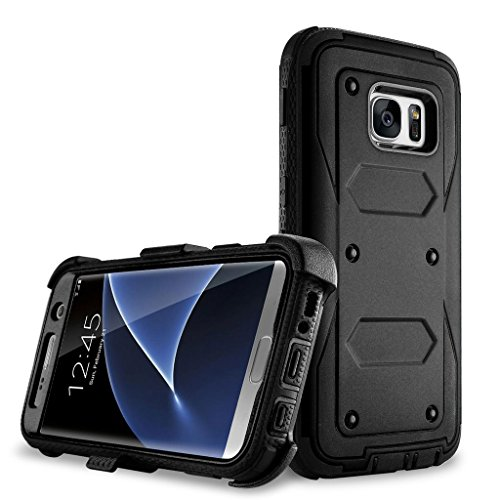 Galaxy S7 Edge case, Samcore Full body Protective Shock Reduction Belt Clip Case With Rugged Holster, WITHOUT Built in Screen Protector for Samsung Galaxy S7 Edge [BLACK]