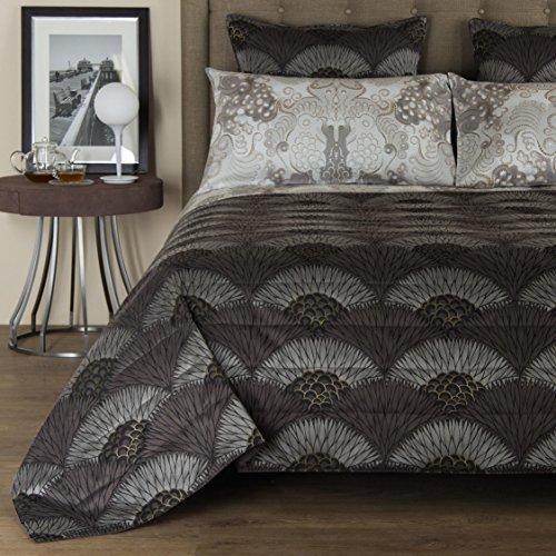 frette-ventagli-dark-grey-silver-silk-queen-duvet-cover