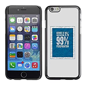 Fashionable PHONE CASE / Slim Protector Hard Shell Cover Case for Apple Iphone 6 / 99 Rich Social Justice Blue by ruishername