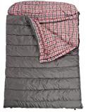 TETON Sports Mammoth Queen Size Flannel Lined Sleeping Bag (94 x 62-Inch, Grey), Outdoor Stuffs