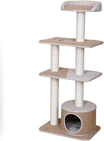 DJ Home Gato Grande de sisal Tree House con Salto Gatito Plataforma Multi-Funcional Gatos Grandes Columpio Jugar Mascotas Juguete for Mascotas Árboles de Actividades para Gatos: Amazon.es: Hogar