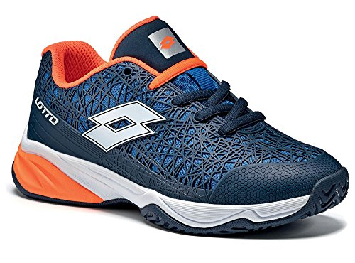 Lotto Viper Ultra Jr L, Zapatillas de Tenis Unisex Niños Blau (AVI/WHT)