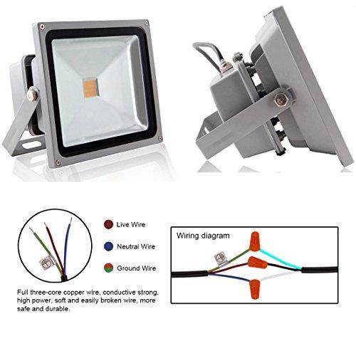 LEDMO W LED Flood Lights Waterproof IP For Outdoor Warm White - Ledmo led flood lights wiring diagram