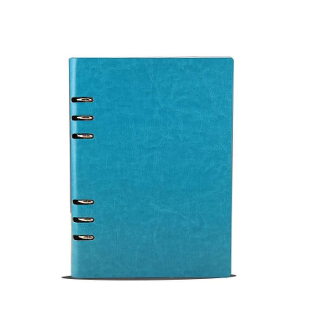 FS A5 Ring Binder, Refillable Business Ring Binder Cover Notebook 100 Sheets of Regular Filling Paper, Suitable for All People Over The Age of Three (Color : Blue A5)