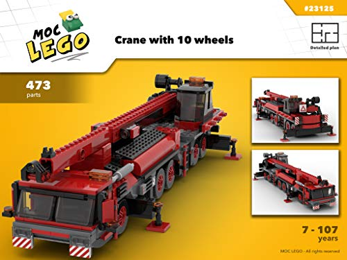 (Crane with 10 wheels (Instruction Only): MOC)