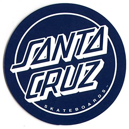 Amazon Com Santa Cruz Classic Blue Logo Skateboard Sticker