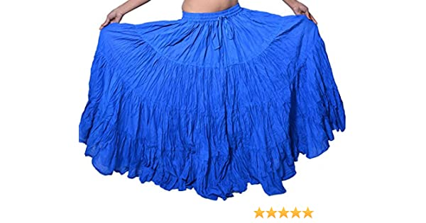 Wevez - Falda de algodón para Mujer, Estilo Tribal Gitano, Danza ...