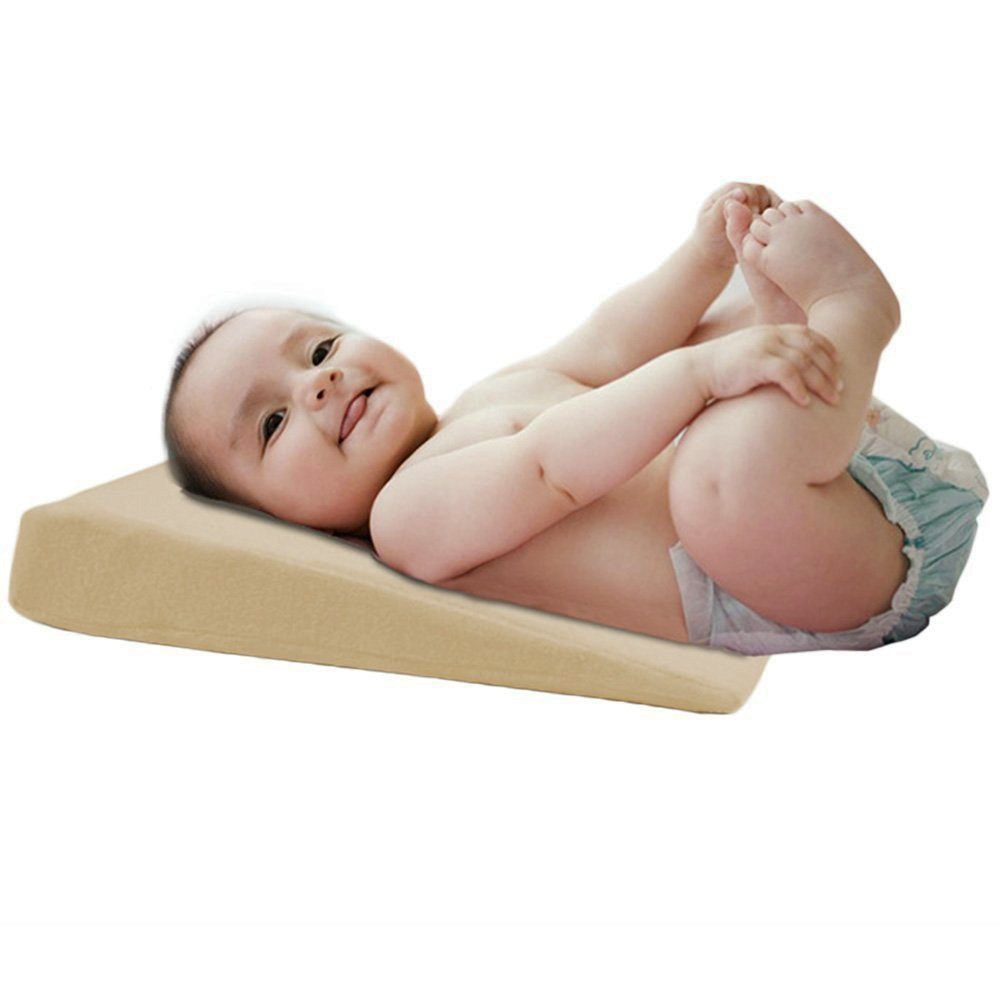 Baby Wedge Anti REFLUX Raised COLIC PILLOW Cushion For Pram Crib Cot Bed