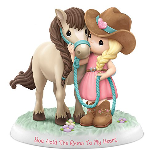 The Hamilton Collection Precious Moments You Hold The Reins to My Heart Cowgirl Collectible Figurine
