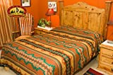 Mission Del Rey Southwestern Lodge Bed Spread -Picuris Design TWIN