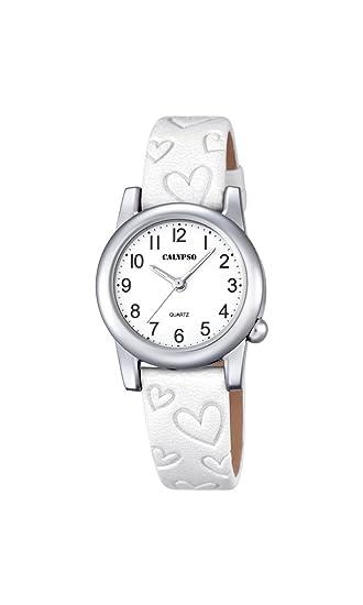 Calypso Reloj Análogo clásico para niñas de Cuarzo con Correa en Cuero K5709/1: Calypso: Amazon.es: Relojes