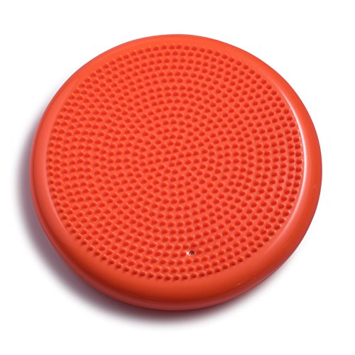 Bintiva Inflated Stability Wobble Cushion, Including Free Pump / Exercise Fitness Core Balance Disc,Orange,13 inches/ 33 cm diameter by bintiva (Image #2)