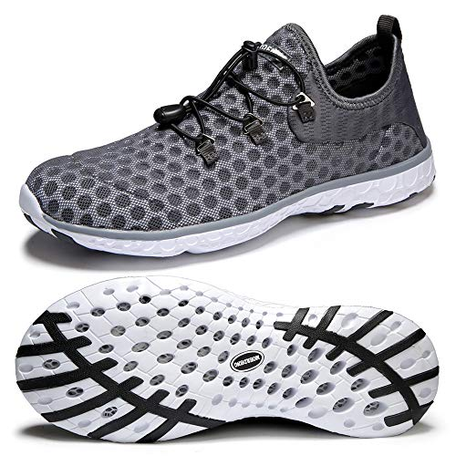 MOERDENG Men Quick Drying Water Shoes Lightweight Aqua Shoes for Sports Outdoor Beach Pool Exercise