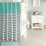 Intelligent Design ID70-365 Nadia Shower Curtain 72x72 Teal