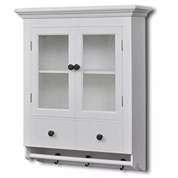 Xinglieu Storage Cabinet Wooden Kitchen Wall Cabinet With Glass Door